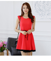 2014 Plus Size XXXL Fashion Women Sexy Summer Dress Sleeveless Office Lady Dress Korean Design