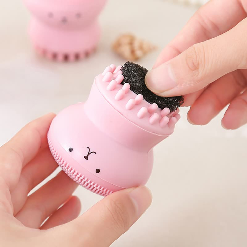 Hot Silicone Face Cleansing Brush Facial Cleanser Pore Cleaner Exfoliator Face Scrub Washing Brush Skin Care Octopus Shape TSLM1