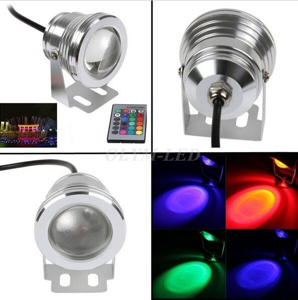 RGB LED Underwater Light DC12V IP68 Waterproof Aquarium Swimming Pool Lights Spotlight Stainless Lighting