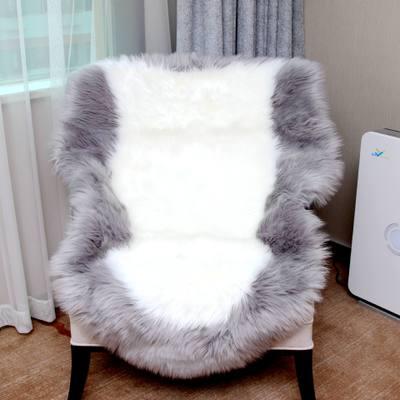 Peau de mouton housse de chaise coussin de siège tapis doux poilu peau unie fourrure plaine moelleux tapis chambre Faux tapis Muzzi 002 4 tailles