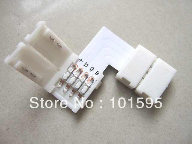 30pcs/Lot 10mm 4pin for 5050 RGB Color Strip LED Connector, NO welding Strip Connector For Strip Jointing, Free Shipping!