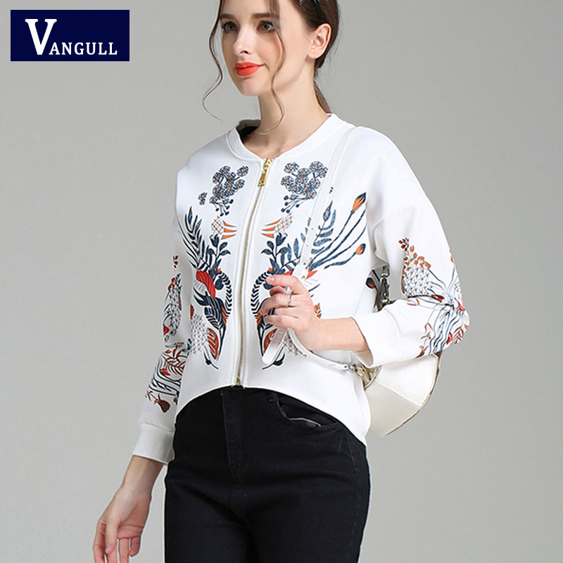 Hot sale Brand Women Bomber   Jacket   3D Printed Flowers Crown Outwear Coats University College chaquetas   Basic     Jackets