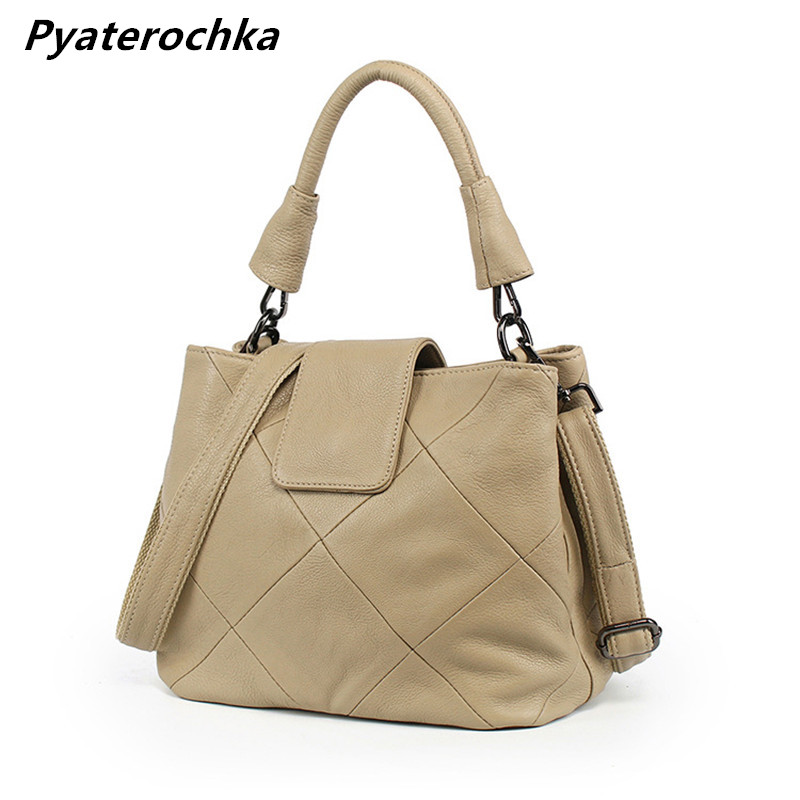 Ladies Brand Crossbody Bag Designer Tote Shoulder Bags For Women Casual Fashion Solid Bucket Bag Luxury Genuine Leather Handbag esufeir genuine leather handbag for women fashion brand designer shoulder bags cow leather crossbody bag ladies trapeze tote bag