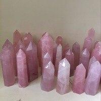 5 кг оптовая продажа природного камня розовый стразы из розового кварца исцеление палочкой Природный камень