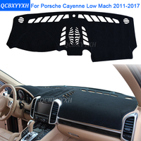 Car Styling Dashboard Avoid Light Pad Protective Mat Photo phobism Pad Interior Carpet For Porsche Cayenne Low Mach 2011 2017
