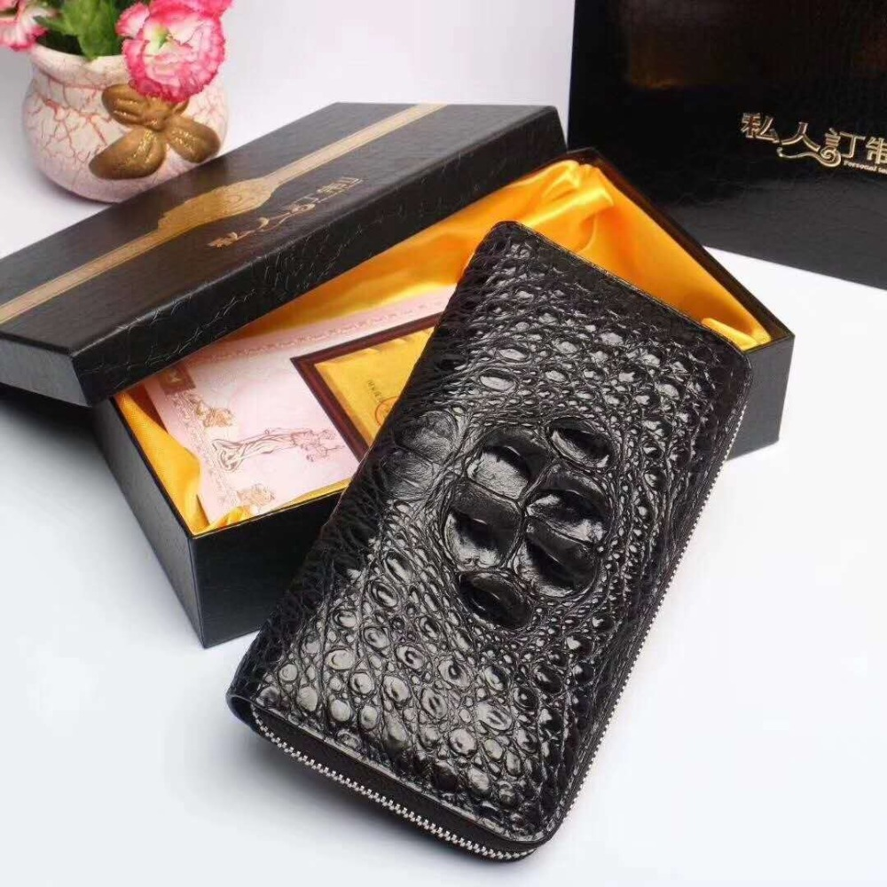 100% genuine crocodile leather head skin wallet and purse excellent solid quality men business card credit card holder case  100% genuine crocodile leather head skin wallet and purse excellent solid quality men business card credit card holder case