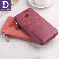 DIDE Brand Casual Couples wallets Women men Genuine Leather Wallet Long Coin purse female original Phone Clutch Bag best gift