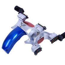 New powerful alloy bow professional slingshot shooting catapult shou fa aluminum alloy slingshot a small cup catapult and powerful poket slingshot used for shooting