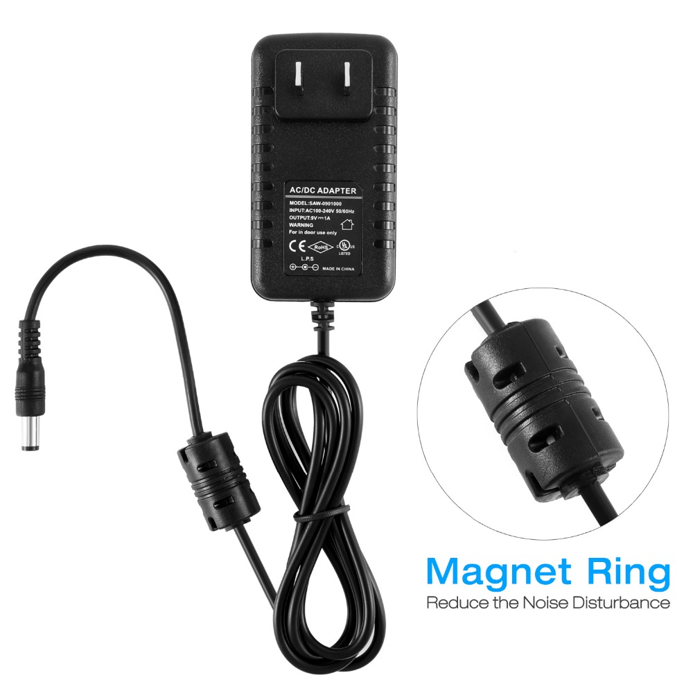Donner DPA-1 Gitaarpedaal Voeding Adapter 9V DC Negatief 1A Tip 5-weg - Muziekinstrumenten - Foto 5