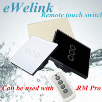 EU Standard SESOO 3 Gang 1 Way Remote Control Switch Wireless Remote Control Wall Touch Switch