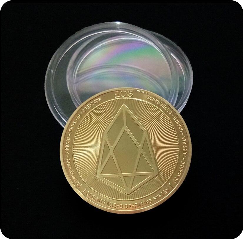 Валюта грейпфрута Виртуальная металлическая памятная монета EOS экспортная памятная монета|Безвалютные монеты|   | АлиЭкспресс