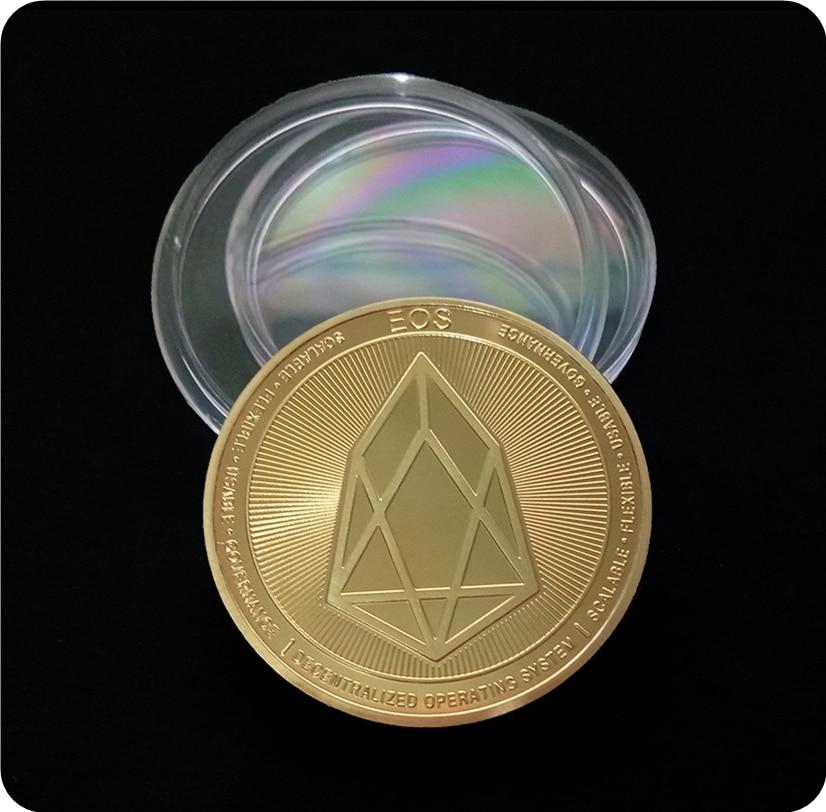 Валюта грейпфрута Виртуальная металлическая памятная монета EOS экспортная памятная монета
