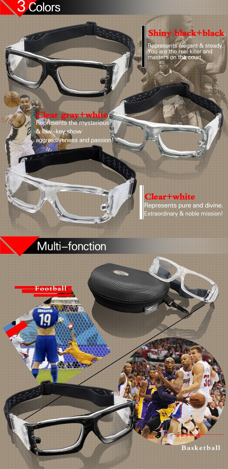 f8ce07b7d2 PANLEES outside sport transparent PC lens glasses protective eyes ...
