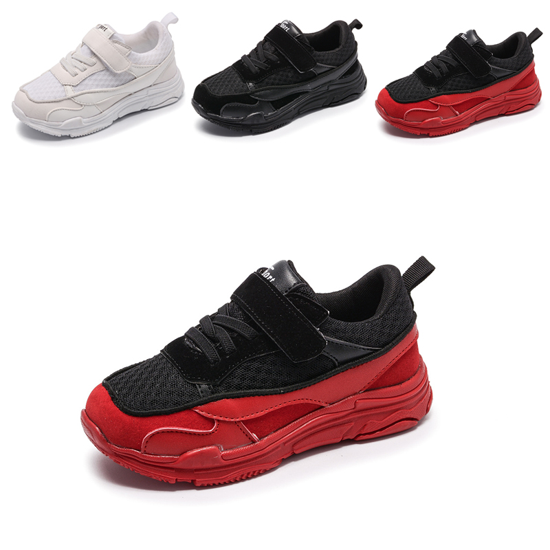 Bavoirsj Big Size Platform Fashion Breathable Girls Shoes Canvas White Red Sneakers for Kids Childrens Casual Shoes B1971
