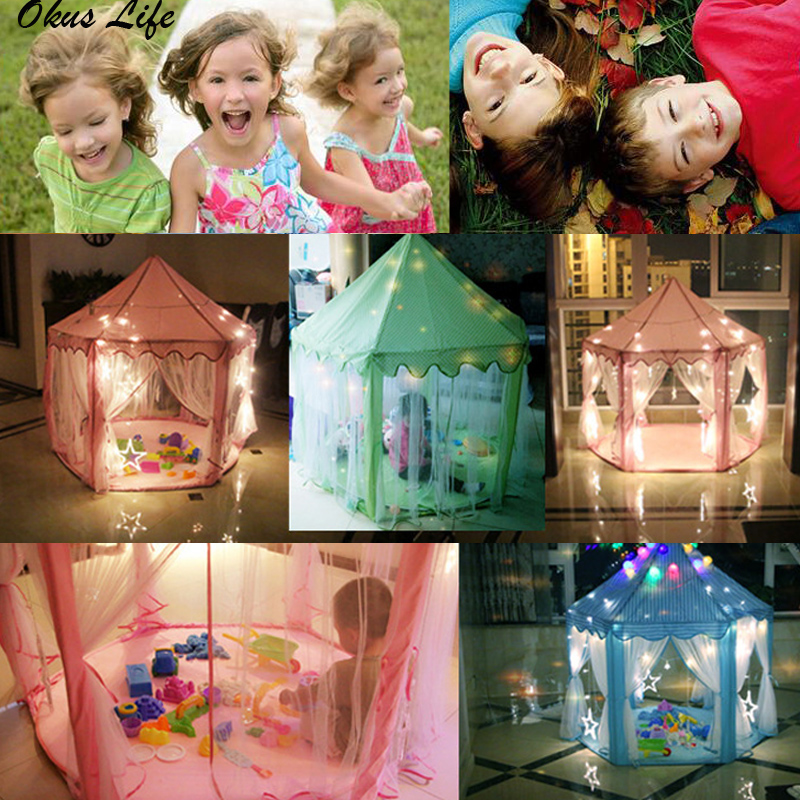 Large Portable Children's Tent Toy Ball Pool Princess Girl's Castle Play House Kids Small House Folding Playtent Baby Beach Tent