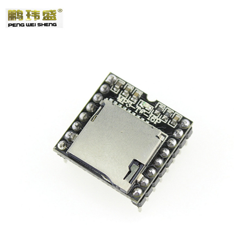 1PCS Mini MP3 Player Module with Simplified Output Speaker MP3 TF 16P for Arduino UNO