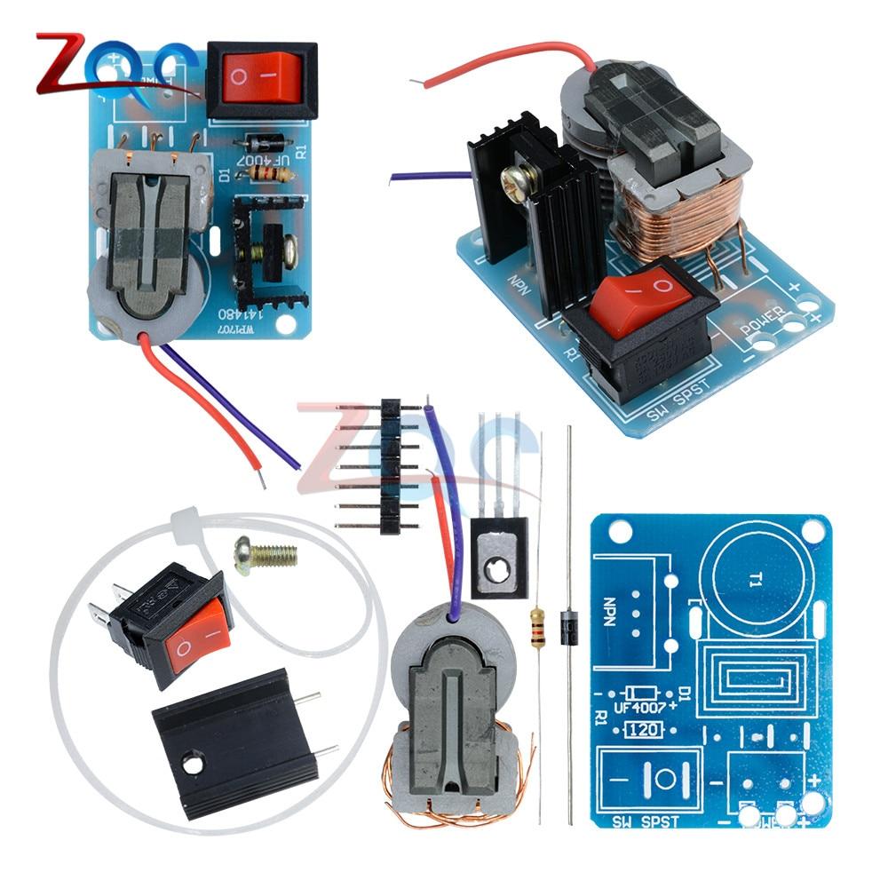15KV High Frequency DC High Voltage Arc Ignition Generator Inverter Boost Step Up 18650 DIY Kit U Core Transformer Suite 3.7V 1000 kv pulse ignition coil inverter arc generator