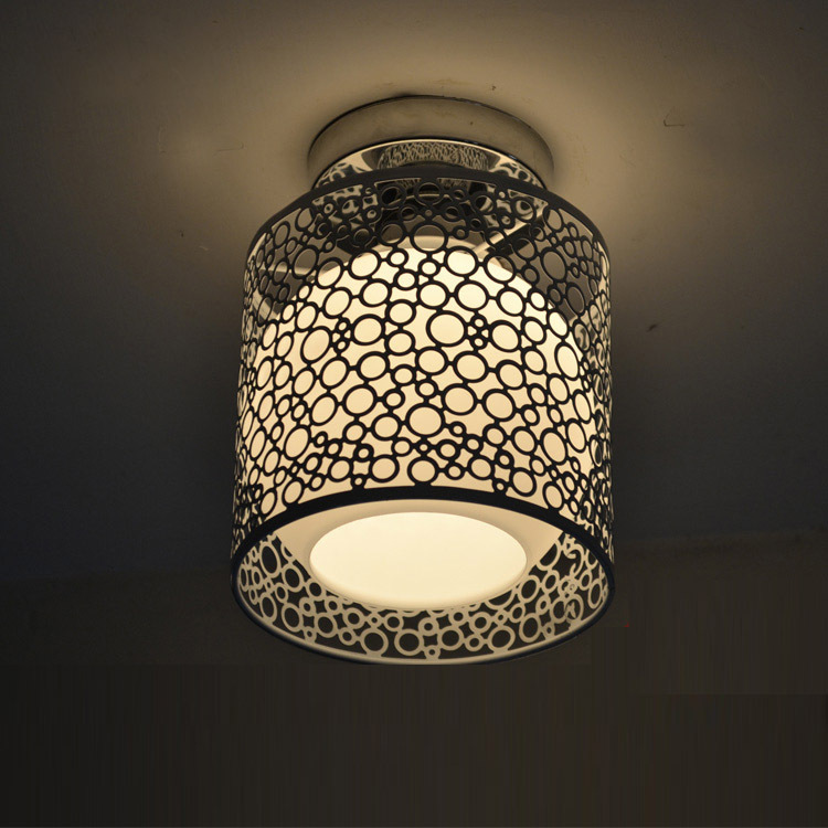 Modern 6 Iron Hollow Out Metal Ceiling Light Bedroom Balcony passageway Hallway Ceiling Lamp modern kid s bedroom glass lemon ceiling light living room parlor lamp yellow lemon balcony passageway hallway ceiling lamp