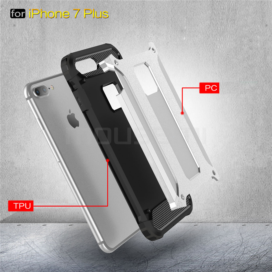 Silicone Luxury Shockproof Hard PC TPU Armor iPhone Case 3