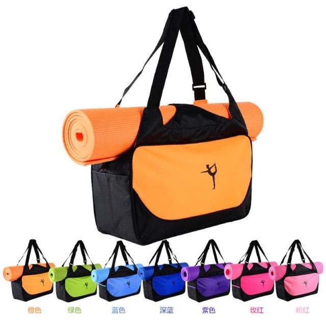 Fitness Backpack Yoga-Bag Custom-Printed Waterproof Logo Mats Not-Contain Camping