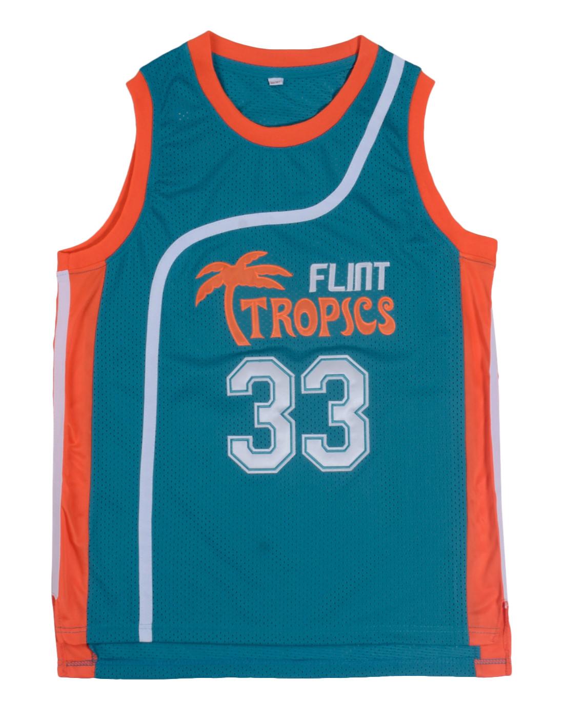 00e0ca333 Jackie Moon Flint Tropical Throwback Jerseys 33# Retro Basketball ...