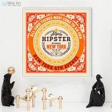 Vintage Retro inspiracional tipografía Nueva York citas Póster Artístico impreso Hipster cuadro de pared lienzo personalizado decoración del hogar