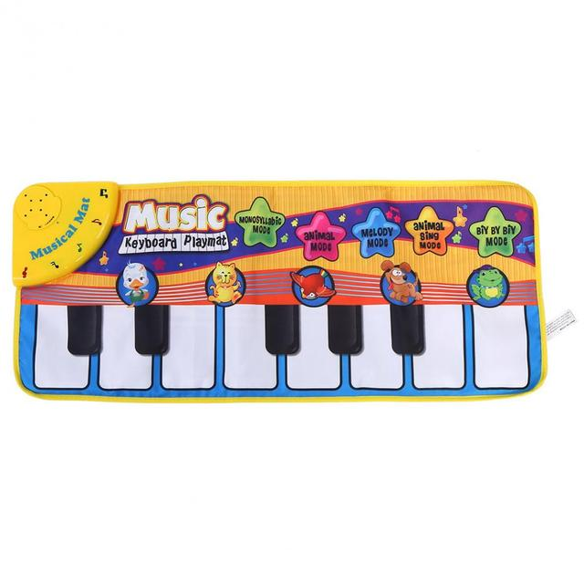 US $8 44 29% OFF|Baby Piano Mats Music Carpets Children Touch Play Game  Musical Carpet Animal Sounds Musical Keyboard Crawling Blanket Kids  Gifts-in