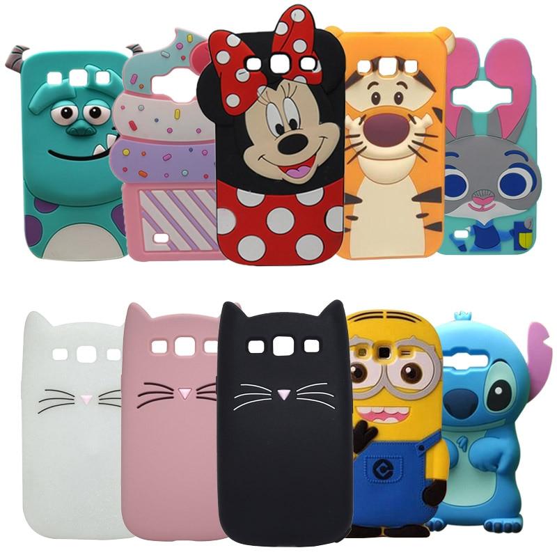 For Case Samsung Galaxy S3 3D Cartoon Minnie Pig Ice Cream Cover For Samsung S3 Case Galaxy I9300 Neo i9301 Duos i9300i Coque