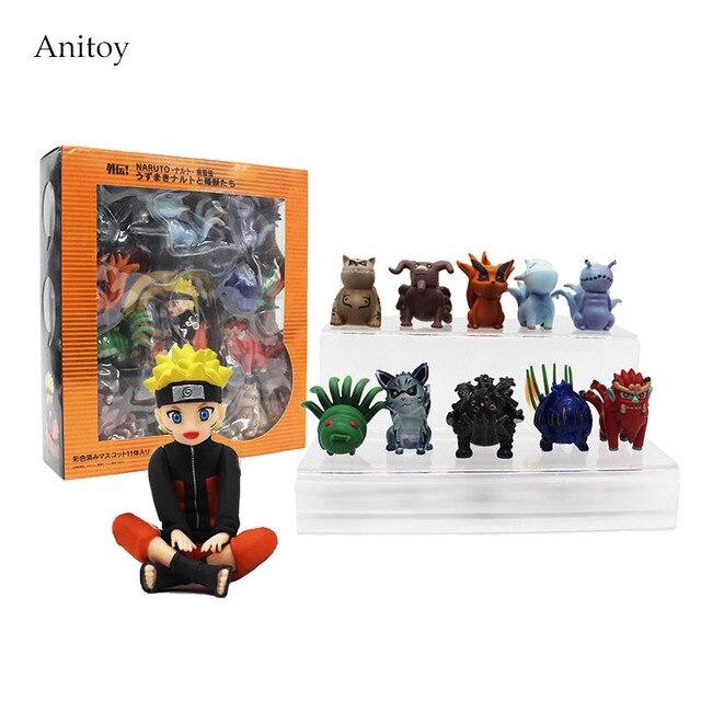 Bijuu & Naruto Action Figures (11 Pcs Set)