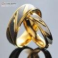 1 Peça!! Anéis Casal Coreano de Aço inoxidável para Mulheres Dos Homens Amantes do Aniversário do Noivado, dele e dela promise ring, WR005