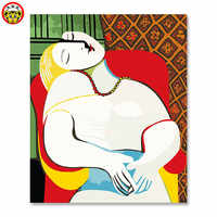 painting by numbers art paint by number Picasso dream diy paint painting their own painted on the painted color number