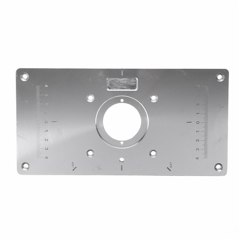 235*120*8mm Woodworking Multifunctional Aluminum Alloy Table Insert Plate Plastic Router Insert Ring