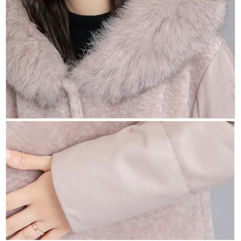 Capuchon Femmes De Mode khaki Qualité Plus D'hiver Pardessus Long Haute Black Fourrure Neuf 4xl Fausse Manteau En À Chaud Taille Noir Automne La Veste CqtntOF