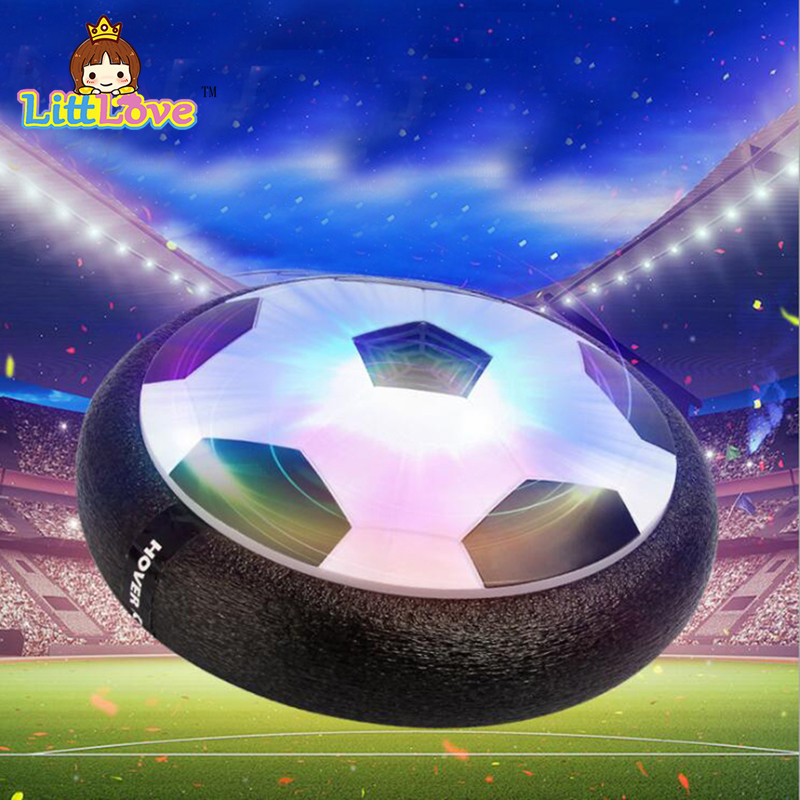LittLove New Arrival 1Piece Air Power Soccer Ball Disk Indoor Football Toy Multi-surface Hovering and Side Toys for Children