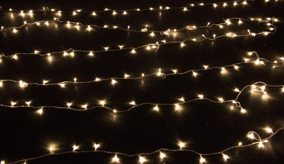 ФОТО Warm White/White 50m 400 Led Bulbs Christmas Tree Fairy Party String Lights Waterproof Xmas Festival Holiday Garden Decoration