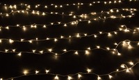Warm White/White 50m 400 Led Bulbs Christmas Tree Fairy Party String Lights Waterproof Xmas Festival Holiday Garden Decoration