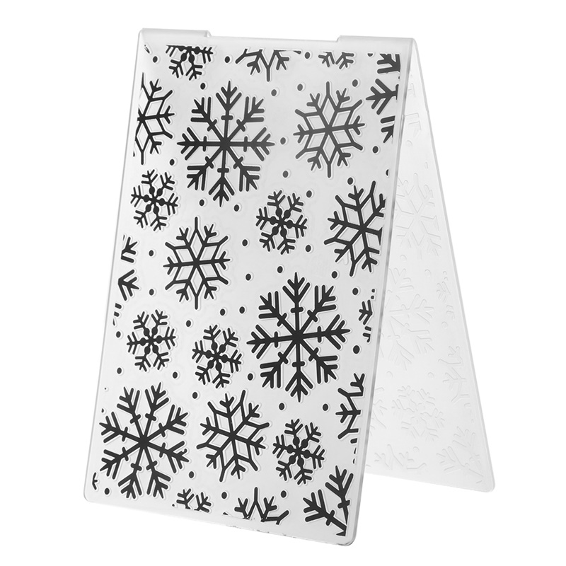 Christmas Snowflake Plastic Template Craft Embossing Folders For DIY Scrapbooking Album And Paper Card Making Decoration Supplie