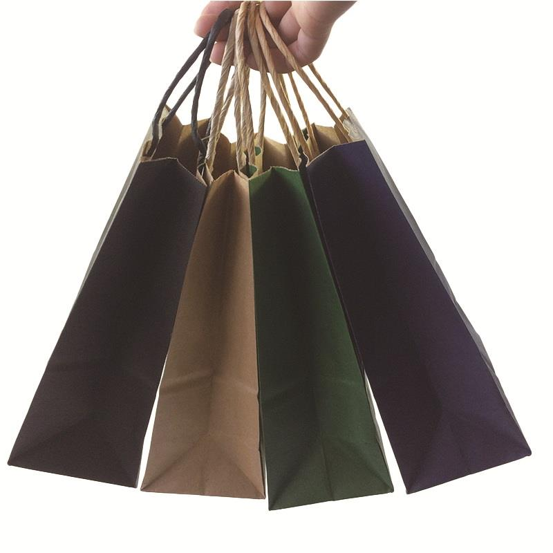 50PCS  Fashionable Kraft Paper Gift  Bag With Handle/shopping Bags/Christmas Brown Packing Bag/Excellent Quality 21X15X8cm
