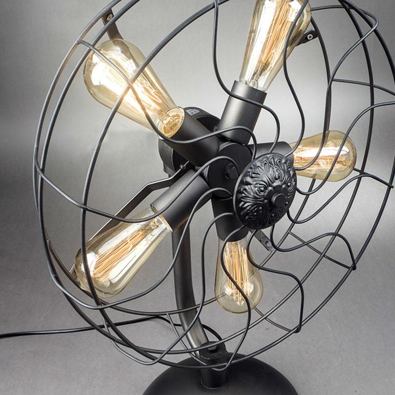 Iron Fan Table Lamps 19