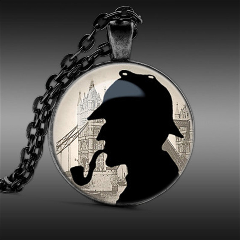 Sherlock Holmes Quote Necklace Sherlock Holmes Jewelry, I know what others do not Glass Cabochon Pendant