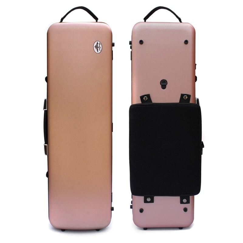 Один чехол из углеродного волокна для скрипки 4/4 Размер Чехол из углеродного волокна крепкий светильник прочный черный цвет белый цвет - Цвет: pink  color