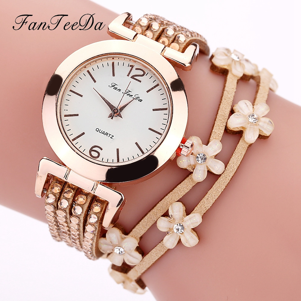 Wrist Watches Bracelet Wrap Gift Quartz Best-Sale Vintage Womens Fashion Feminin Weave