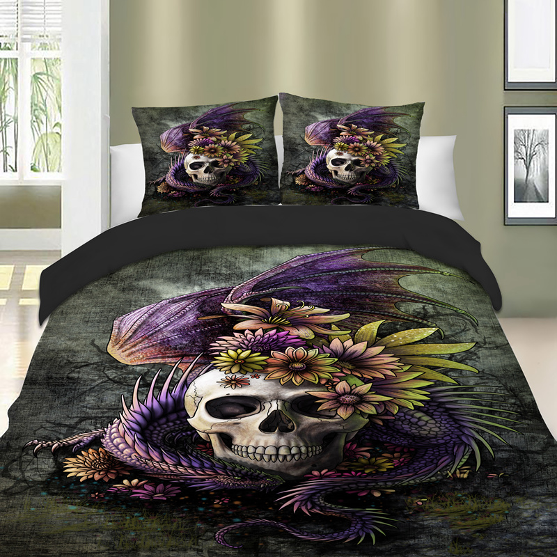 India Bohemian Style Bedding Set Feather Printed Bedlinen Set Queen Size Datura Duvet Cover Pillowcase Dreamcatcher Us King Size Solar