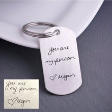 Unique Stainless Steel Keychain Christmas Gift For Men Any Words Can Be Customed Accept Drop Shipping YP4047