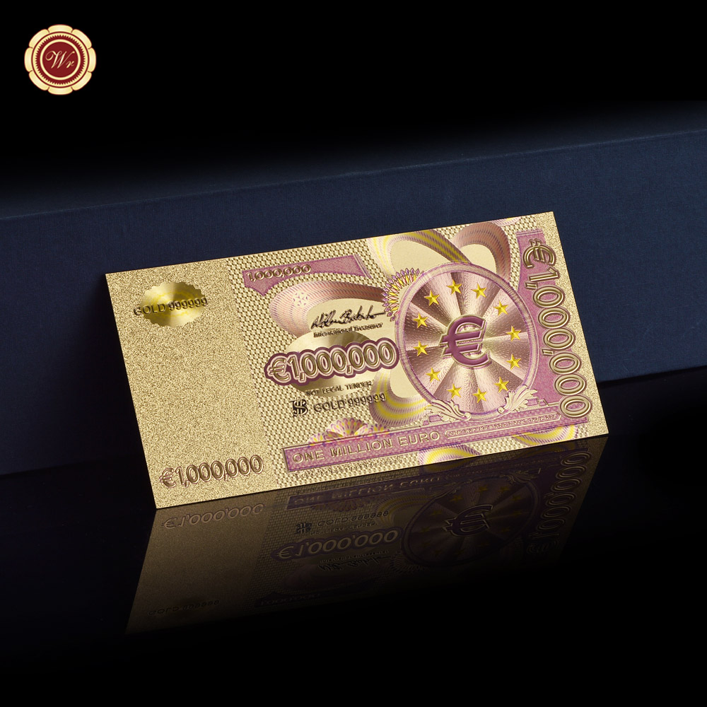 World Currency Banknotes 1 Million Euro Gold Banknotes European Union Collection Gift In Gold Banknotes From Home Garden On Aliexpress Com Alibaba Group