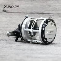 100% YUMOSHI JCA2000/3000/4000/5000 12+1BB Offshore Angling Gapless Drum Wheel Fishing Reel Moulinet Peche Carretilha Pesca