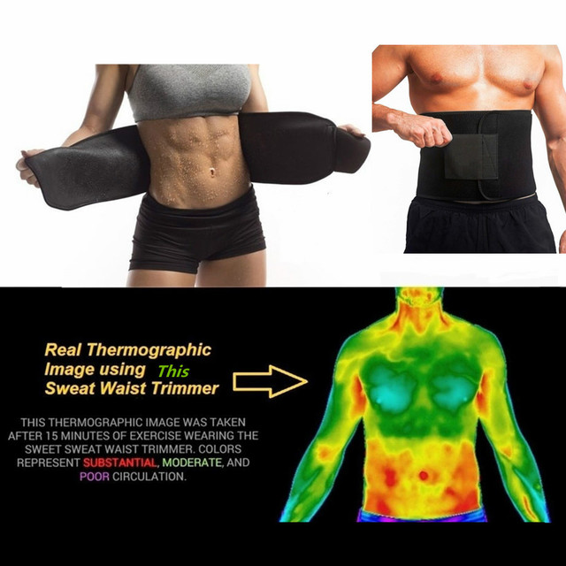 Neoprene Sauna Waist Trainer Slimming Belt Sweat Belt  Shaper Fat Burn Shaperwear Adjustable Slimming Wraps Fajas Slimming Belt 1