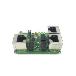 Image 3 - 工業用グレードワイド温度低消費電力ネットワークケーブルミニミニイーサネット 3 ポート 10/100 Mbps 垂直 180 degreeswitchmodule