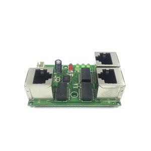 Image 3 - תעשייתי כיתה רחב טמפרטורה נמוך כוח רשת כבלים מיני מיני Ethernet 3 נמל 10/100 Mbps אנכי 180 degreeswitchmodule