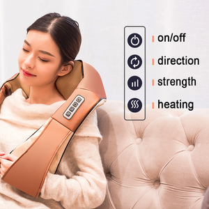 Image 5 - 熱ディープ混練赤外線uシェイプ電気指圧マッサージバックネックショルダーボディで車/ホーム赤外線massagem